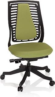 hjh OFFICE Silla, Tela, Verde, 62 x 52 x 111 Cm