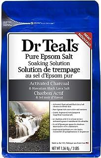Dr. Teal's Epsom Bath Salt Activated Charcoal, 1.36Kg
