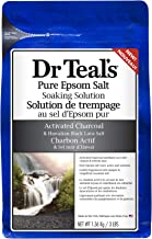 Dr Teals Pure Epsom Salt Soaking Solution with Activated Charcoal, 1.36kg