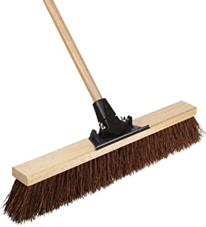 Weiler 44601 Palmyra Fiber Pro-Flex Sweep with Wood Handle, 2-1/2 Head Width