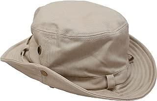 [エクサス]EXAS アドベンチャーハット コットンヘリンボーン ひも付き 大きいサイズ帽子約63~65cm
