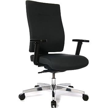 Topstar Sitness 70 komfort Bürostuhl, Schreibtischstuhl, Sitzneige und Sitztiefenverstellung (inkl. höhenverstellbare Armlehnen) Stoffbezug schwarz