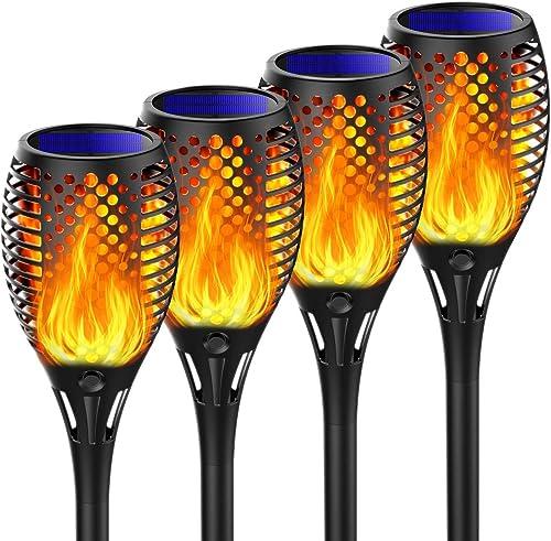 Martiount Lumière solaire de torche Lampe Torche de Jardin Torche Solaire Imperméable Lumières Solaire de Flammes Ext...