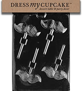 Dress My Cupcake Chocolate Candy Mold, Mustache Lollipop