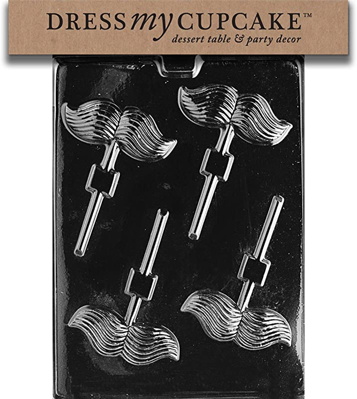 Dress My Cupcake Chocolate Candy Mold Mustache Lollipop