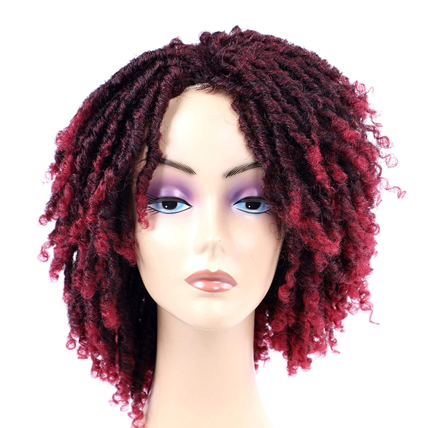 High material Black Super Special SALE held Women 14 Inch Short Twisted Curly Braided Sy Wig