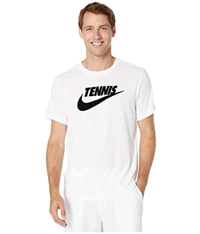 Nike NikeCourt Tee Tennis GFX (White/Black) Men