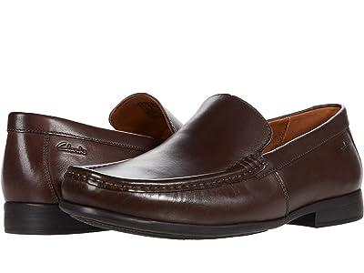 Clarks Claude Plain (Dark Brown Leather) Men