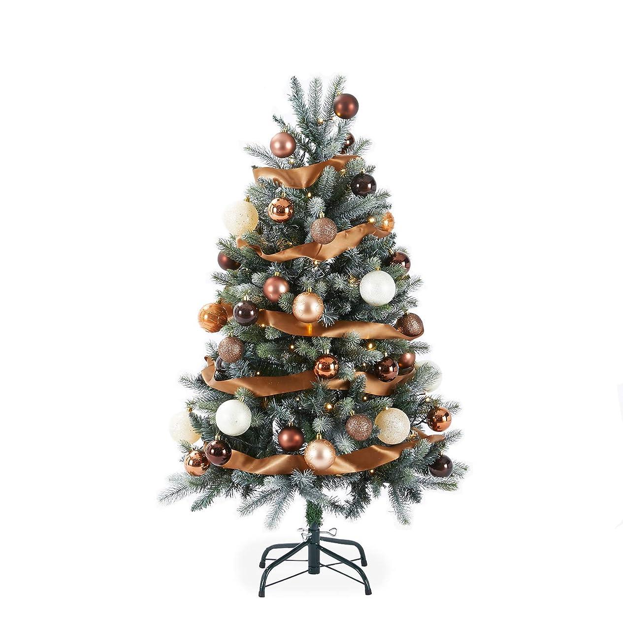チャペル木曜日レンドLOWYA クリスマスツリー ツリー チョコレート色 オーナメントセット 120cm