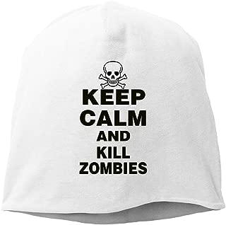 Keep Calm And Kill Zombies Skullies Hat Skull Caps