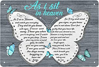 Super durable As I Sit in Heaven and Watch You Everyday-Butterfly Tin Sign Vintage Cave Bar Home Wall Decoration Metal Wal...