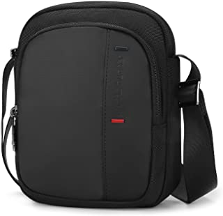 BAIGIO Bolso bandolera pequeño para tablet o iPad de 8 pulgadas, bolso cruzado de viaje, con muchos compartimentos para de...