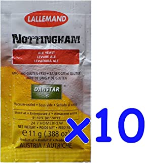 10x Danstar NOTTINGHAM Ale Yeast 11g Fast Fermenting Premium Quality Beers