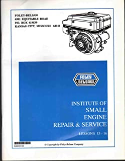 INSTITUTE OF SMALL ENGINE REPAIR & SERVICE MANUAL LESSONS 13-16 All Examination Pages Filled In. Answer Card Not Included.