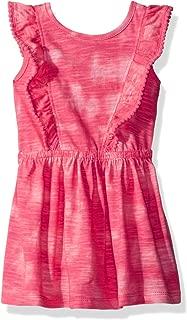 Cherokee Girls' Toddler Tie Dye Dress with Ruffle Pompom