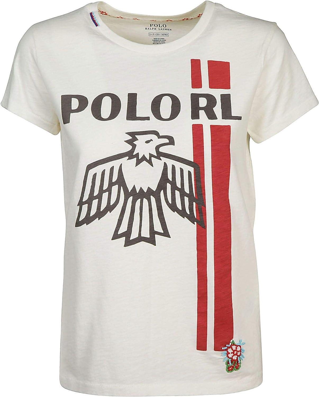 quality design 74393 92d40 Ralph Lauren Women's 211704761001 White Cotton TShirt ...