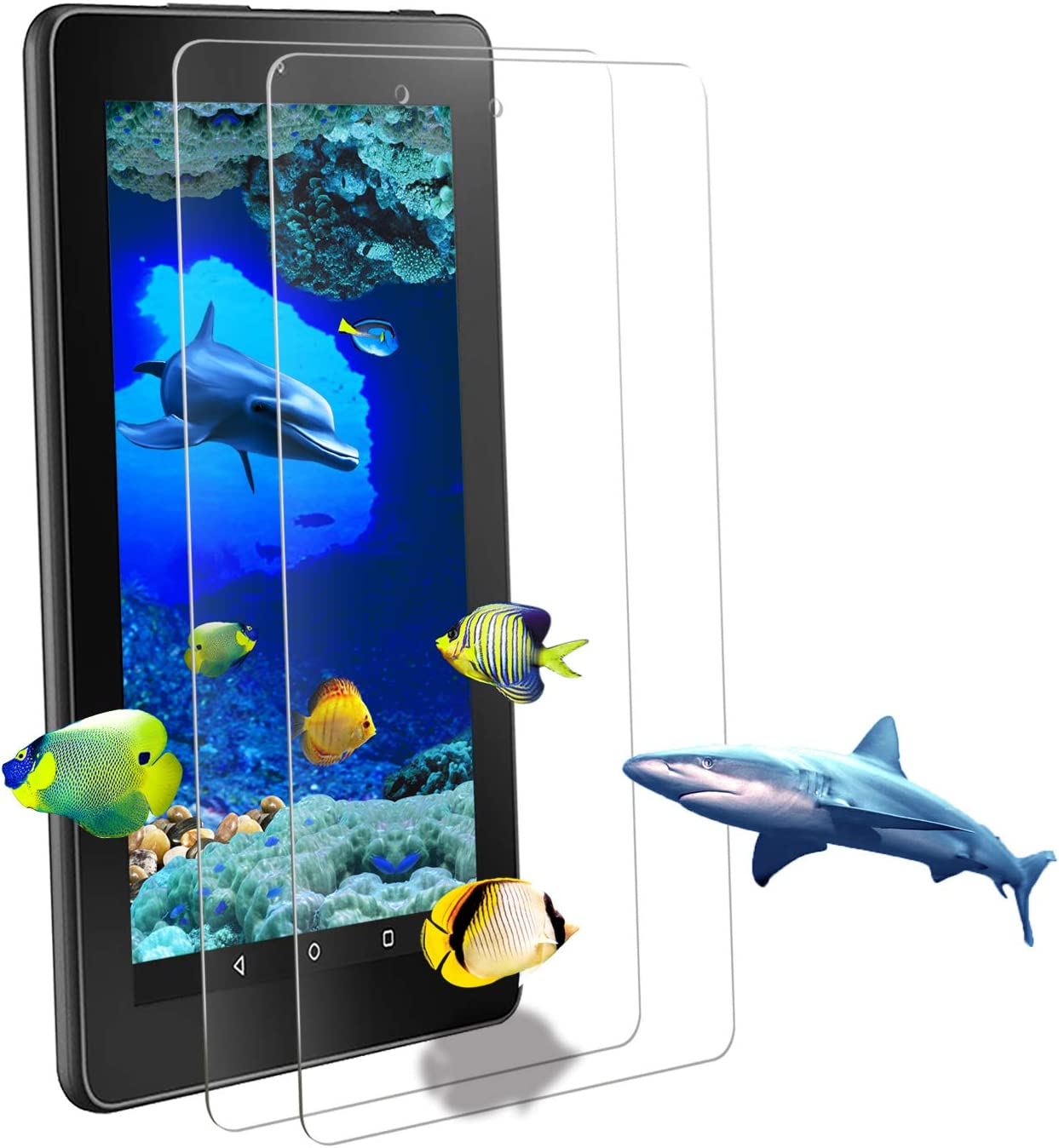 2 Austin Mall Pack ZTOZ Many popular brands All New Kindle Fire Tempered Tablet Glass HD 10 Sc