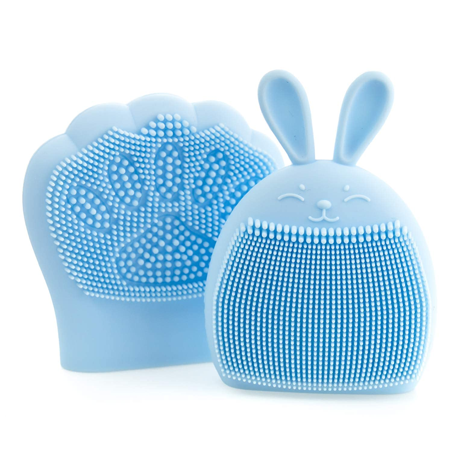 NEW before selling ☆ BABY K Baby Bath Brush Set Silicone Cr Blue - Shape Al sold out. Bunny