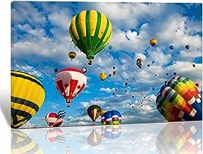 hot air balloon canvas art