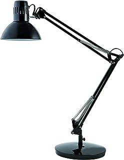 Alba - ARCHI N - Lampe de Bureau - Métal - Coloris Noir - Lampe Architecte - Base Lestée - Livrée avec Pince - Lampe desig...