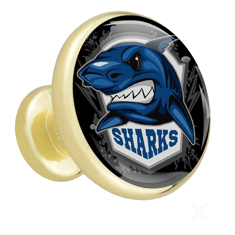 Opening large release sale Nightstand Knobs Blue Shark Elegant Metal Pulls Long-awaited Cu Cabinet