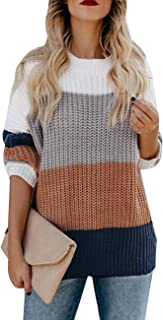 Best color block long sleeve sweater Reviews
