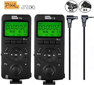 Pixel 2PCS 2.4GHz Disparador inalámbrico Temporizador de liberación Transceptor Pantalla LCD de control remoto para Canon EOS 7D 50S 1DS 6D 50D 40D 1100D 600D 550D 500D