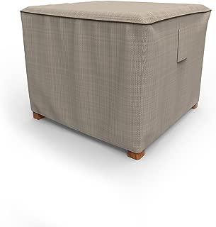 Budge P4A05PM1 English Garden Square Patio Table Ottoman Cover, Small, Two-Tone Tan