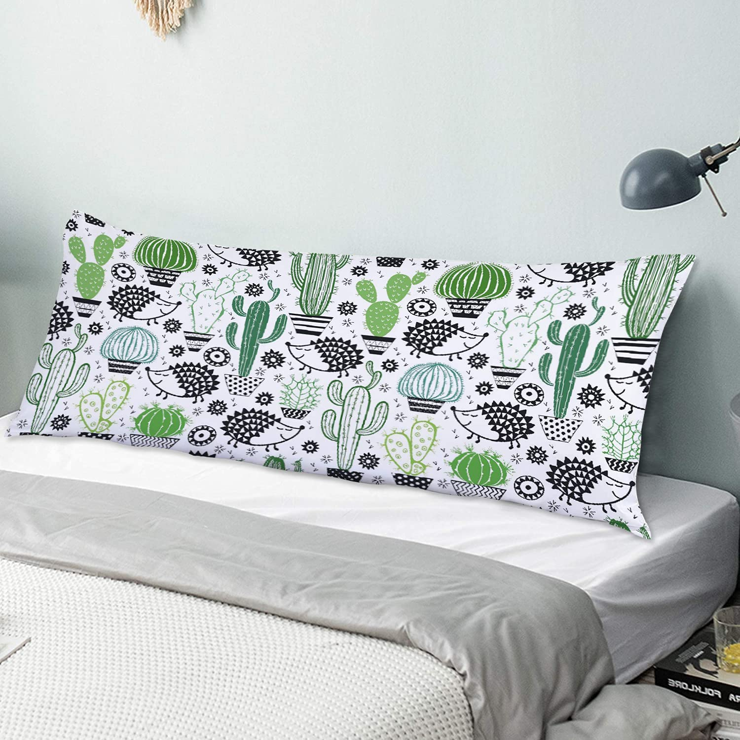NINEHASA Body Pillow Pillowcase Floral with Recommendation De Cactuses Manufacturer direct delivery Seamless