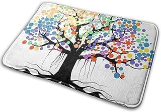 バスマット 玄関マット 茂る 七色の木 お風呂マット 瞬間吸水 速乾 清潔 滑り止め 洗面所 キッチン
