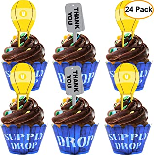 Amazon Com Fortnite Cupcake Wrappers