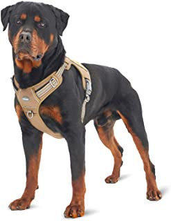 FIVEWOODY Tactical Service Dog Harness Training No Pulling Front Clip Leash Attachment Reflective K9 Working Dog Vest Easy...