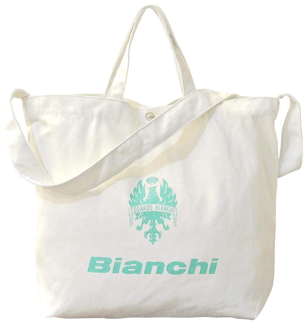 生活リビングルームたとえ[ビアンキ] Bianchi キャンバス地 2wayトートバッグ ショルダーベルト付 WBHA01