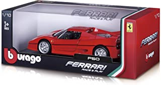 Burago Ferrari 1:18 Race And Play Diecast Vehicle with Stand Die Casts - NB910990 for Boys