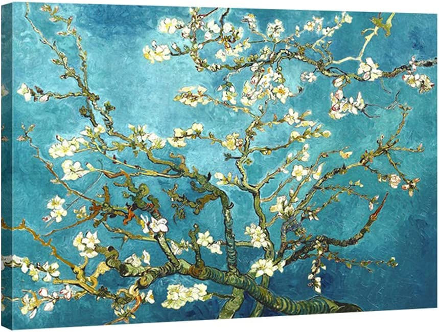 Wieco Art Almond Blossom free shipping by Vincent Gogh Oil Van Paintings Repro Our shop most popular