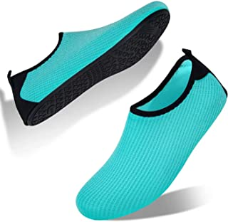 Water Shoes Ladies Mens Beach Shoes Aqua Shoes Swim Shoes Pool Shoes Quick Dry Barefoot for Swimming Surf Diving Boating Y...
