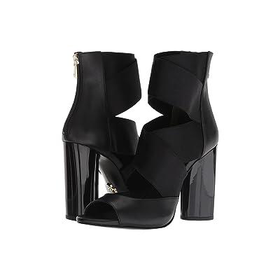 Donna Karan Briana (Black Baby Calf/Shiny Satin Elastic) High Heels