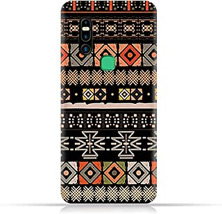 AMC Design TPU Mobile Case Cover for Infinix S5 Pro with Ethnic Boho Pattern