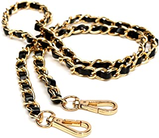Leather Gold Chain Strap Metal Handbag Chains Iron Bag Replacement Accessories Straps with Buckles Gold