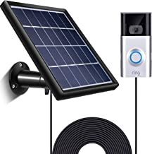 SATINIOR Solar Panel Compatible with Ring Video Doorbell 2, Waterproof Charge Continuously, 5 V/ 3.5 W (Max) Output, Includes Secure Wall Mount, 3.6 M/12 ft Power Cable (No Include Camera)
