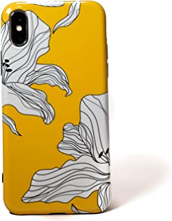 Cute Slim Fit Thin Designer Fashion Protective Yellow Flower Phone Case Apple iPhone X (2017) / iPhone Xs [5.8 inch] (2018) Soft Bumper TPU