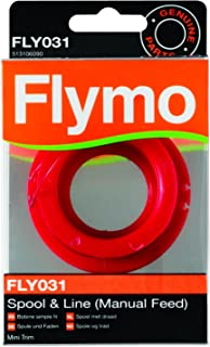 Flymo Genuine Single Line Manual Feed Spool And Line To Suit Mini Trim And Mini Trim St Fly031 Grey