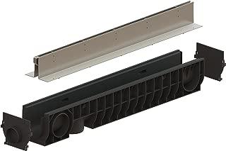 Standartpark Stainless Steel Slot Drain System - 1/2 inch slot drain opening (6 inch channel depth)
