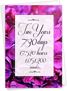 NobleWorks, 2 Year Time Count - Milestone Anniversary Card with Envelope - C9085MAG
