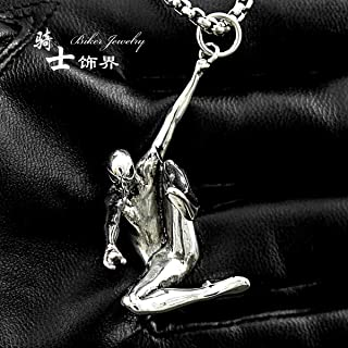 3D Stainless Steel Spider-Man Pendant Necklace with Jewelry Box,Spider-Man Necklace for Boys,Girls (Steel)