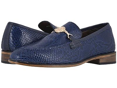 Stacy Adams Barrino Moc Toe Slip-On (Dark Blue) Men