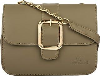 GM CREATIONS™ Leatherette Latest Trendy Branded Crossbody Shoulder Sling bag Side Handbag With Non Detachable Golden Styli...