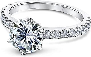 Kobelli 6-Prong 1.9ct Moissanite (DEF/VS) Ring (Multiple Gold Options)