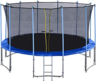 Exacme 16 Foot 6 Legs Trampoline with Safety Pad and Enclosure Net All-in-one Combo Set C16