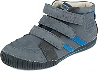D. D. Step Boys' Trendy Boots, Grey and Blue, Genuine Leather, Little Kid and Big Kid Size (036-21D)